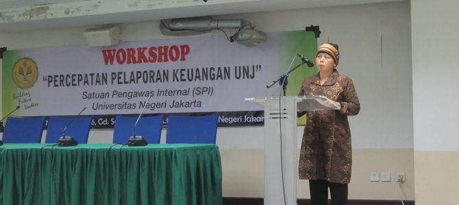 Workshop Percepatan Pelaporan Keuangan UNJ 2016